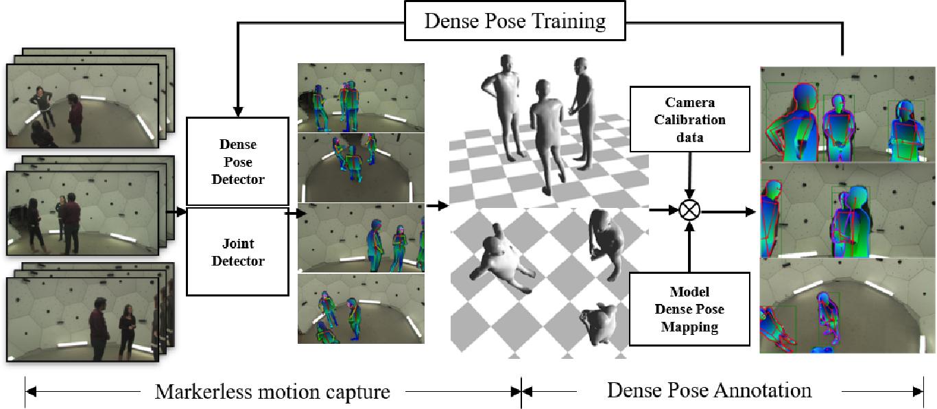 Figure 1 for Capture Dense: Markerless Motion Capture Meets Dense Pose Estimation