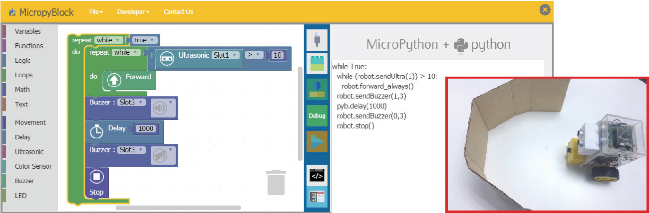 Figure 8 from MicroPython-based educational mobile robot for
