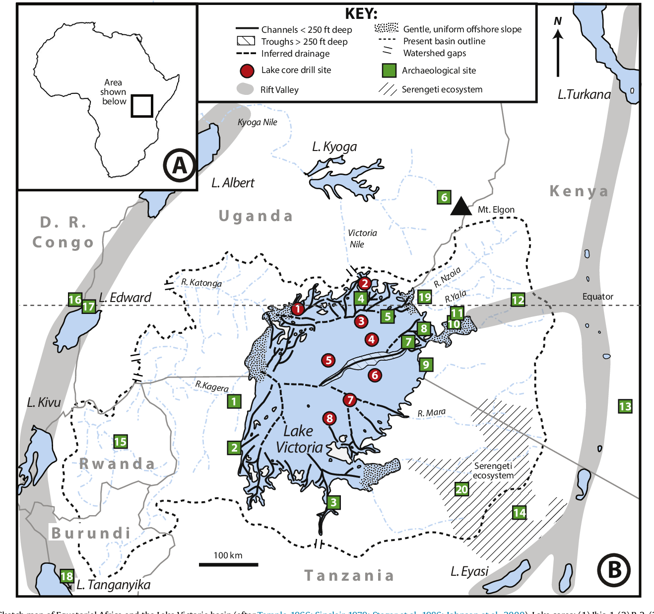 Map Of Africa Lake Victoria.Figure 1 From The Pleistocene Prehistory Of The Lake Victoria Basin
