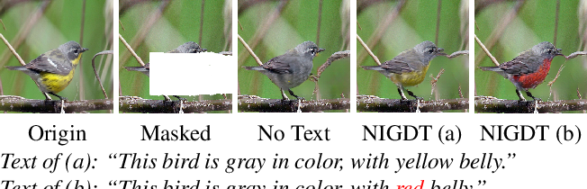 Figure 1 for Neural Image Inpainting Guided with Descriptive Text