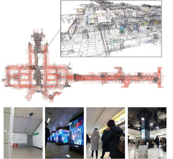 Figure 1 for Large-scale Localization Datasets in Crowded Indoor Spaces