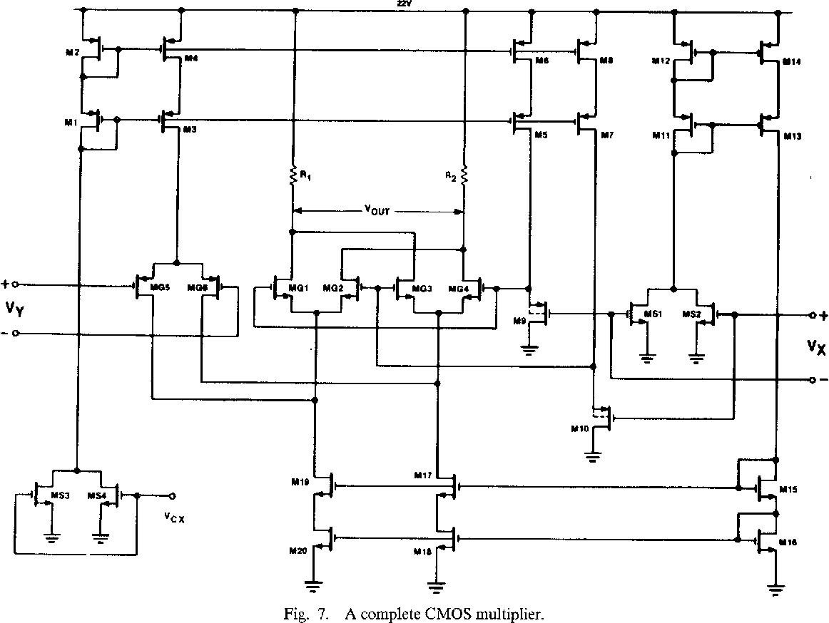 Voltagecontrolledresistor Measuringandtestcircuit Circuit A 20 V Four Quadrant Cmos Analog Multiplier Semantic Scholar