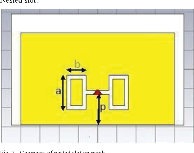 Nested Slot Suspended Patch Antenna Using CST Microwave Studio
