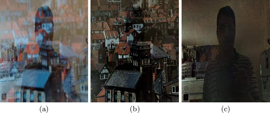 Figure 1 for Reflection Separation and Deblurring of Plenoptic Images