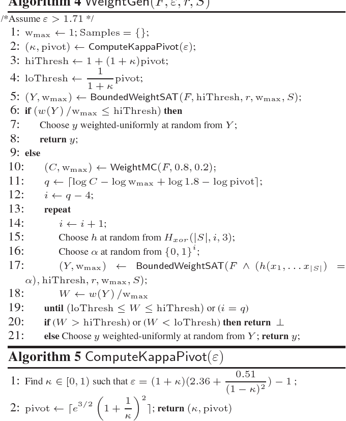 Figure 2 for Distribution-Aware Sampling and Weighted Model Counting for SAT