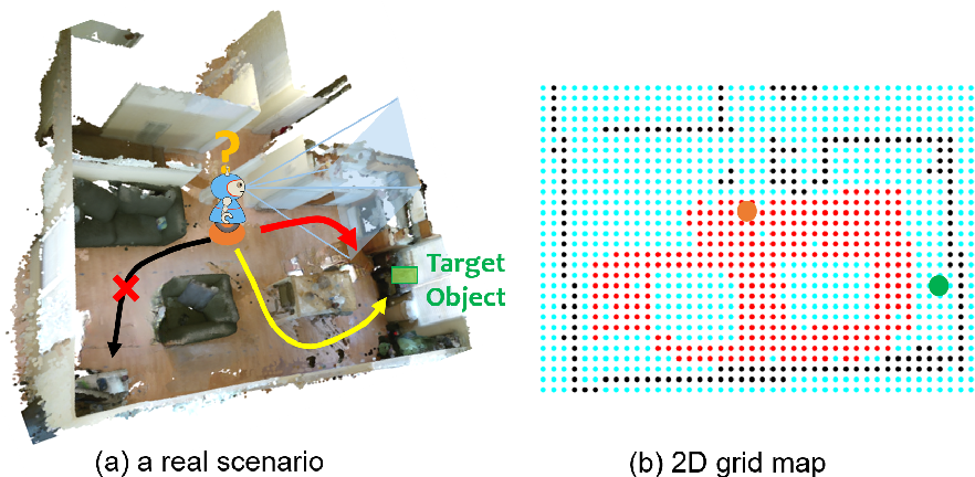 Figure 1 for POMP: Pomcp-based Online Motion Planning for active visual search in indoor environments