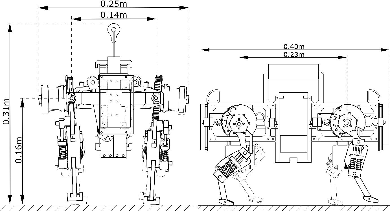 Figure 2 for Oncilla robot: a versatile open-source quadruped research robot with compliant pantograph legs