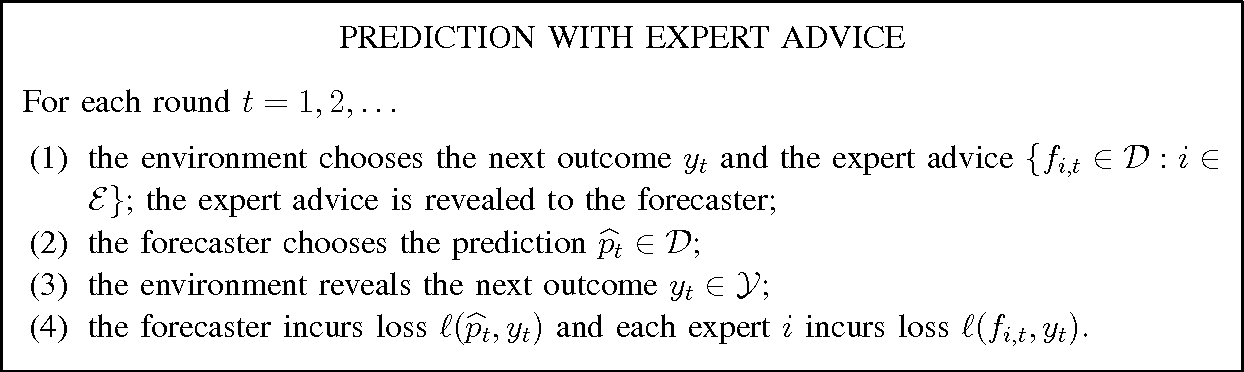 Figure 1 for Efficient Tracking of Large Classes of Experts