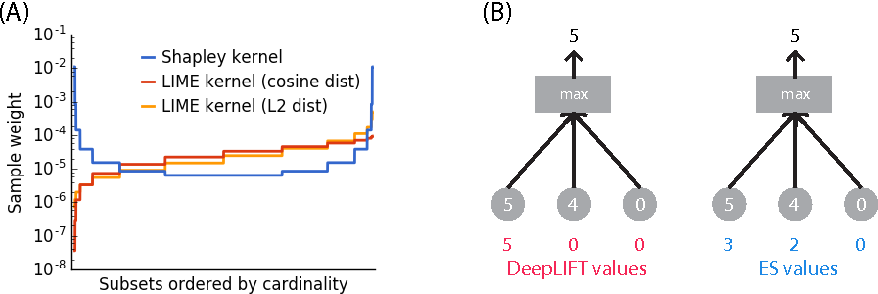 Figure 2 for An unexpected unity among methods for interpreting model predictions