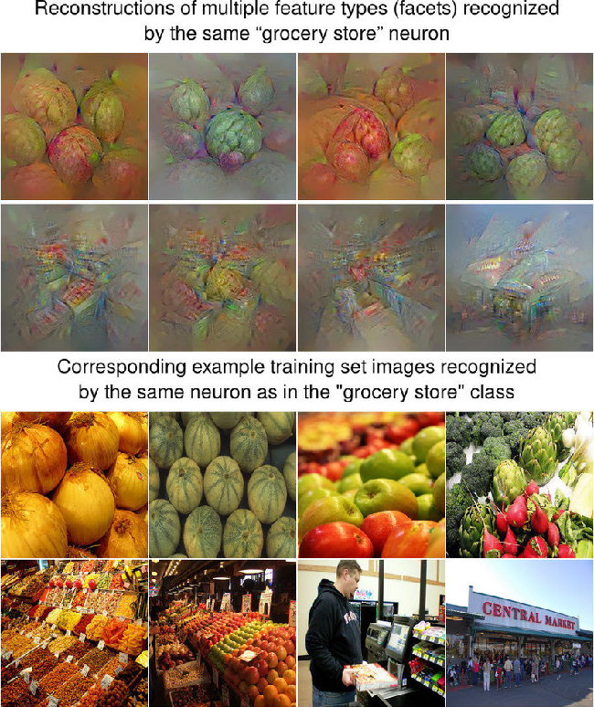 Figure 1 for Multifaceted Feature Visualization: Uncovering the Different Types of Features Learned By Each Neuron in Deep Neural Networks