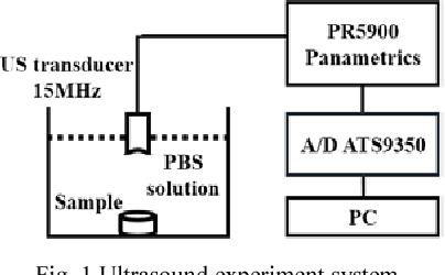 Fig. 1 Ultrasound experiment system.