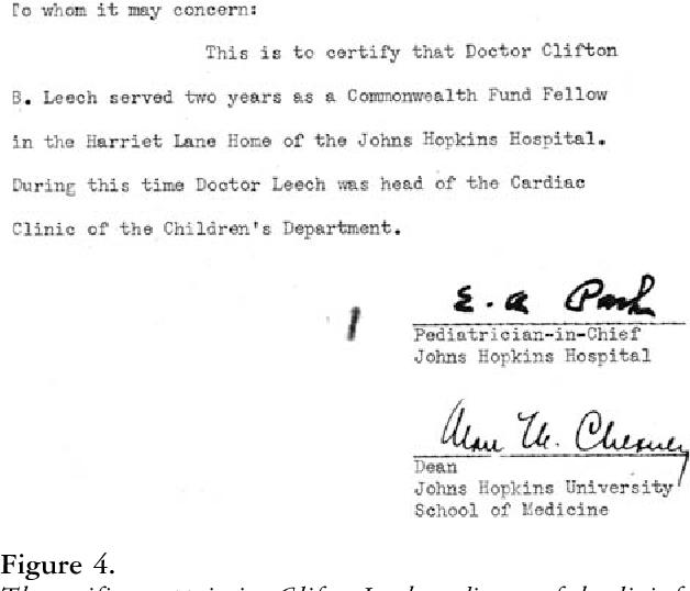 Clifton Briggs Leech: first director of the pediatric