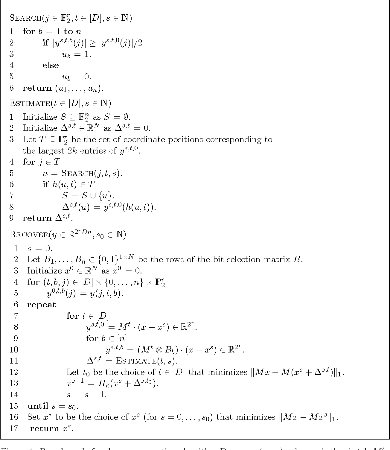 Figure 1 for Nearly Optimal Deterministic Algorithm for Sparse Walsh-Hadamard Transform