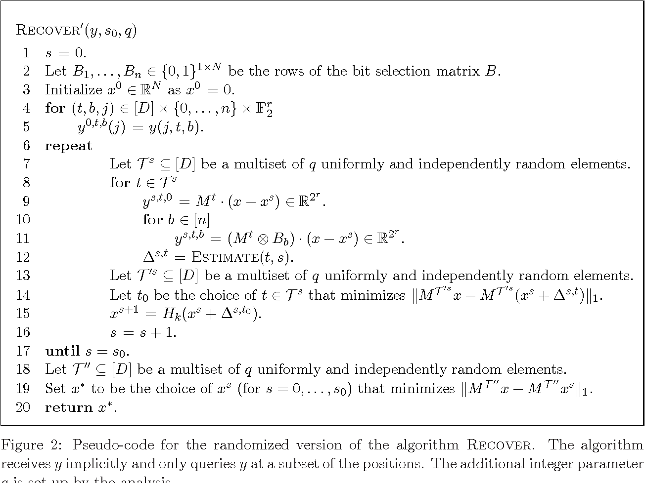 Figure 2 for Nearly Optimal Deterministic Algorithm for Sparse Walsh-Hadamard Transform