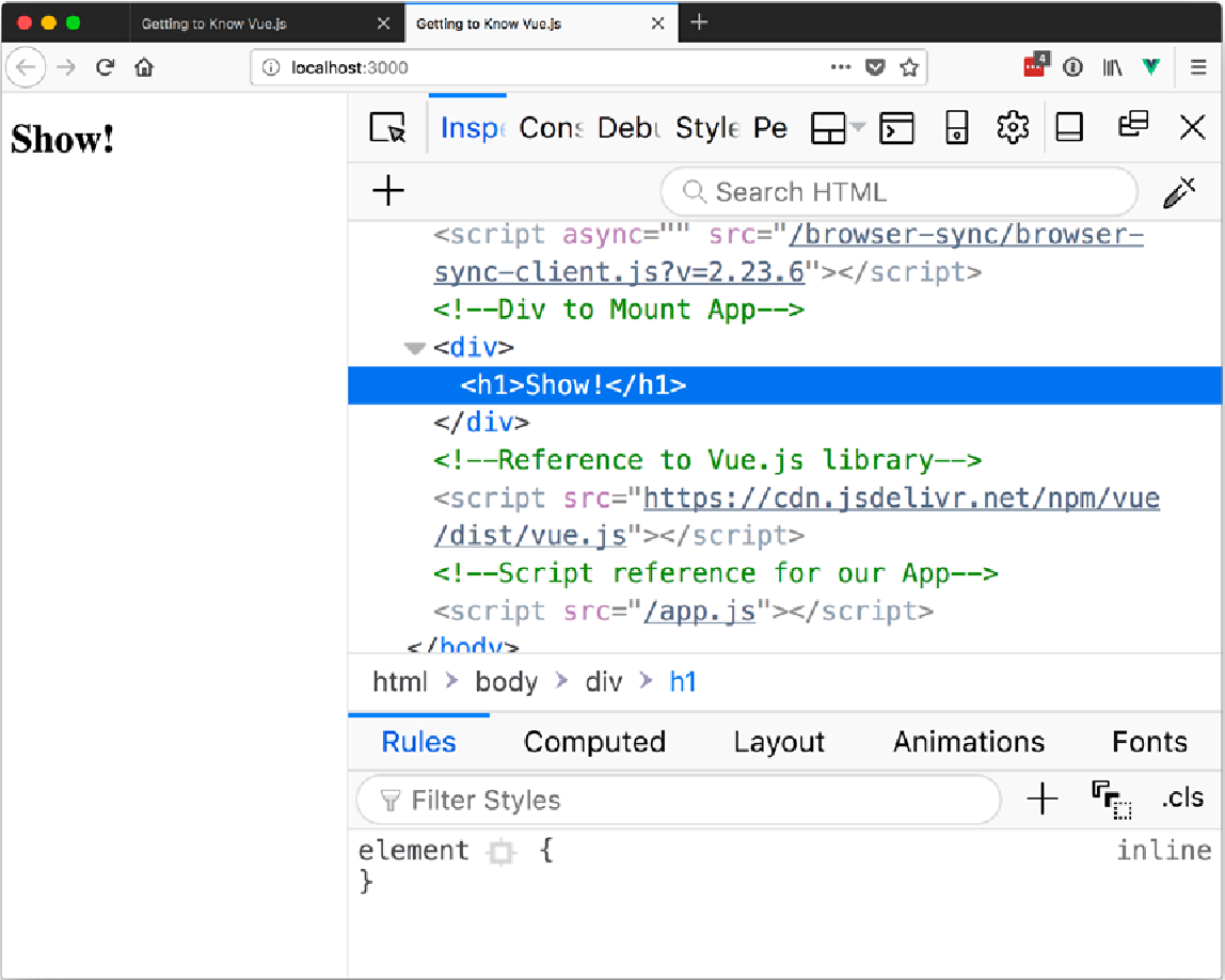 Figure 6-4 from Getting to Know Vue js - Semantic Scholar