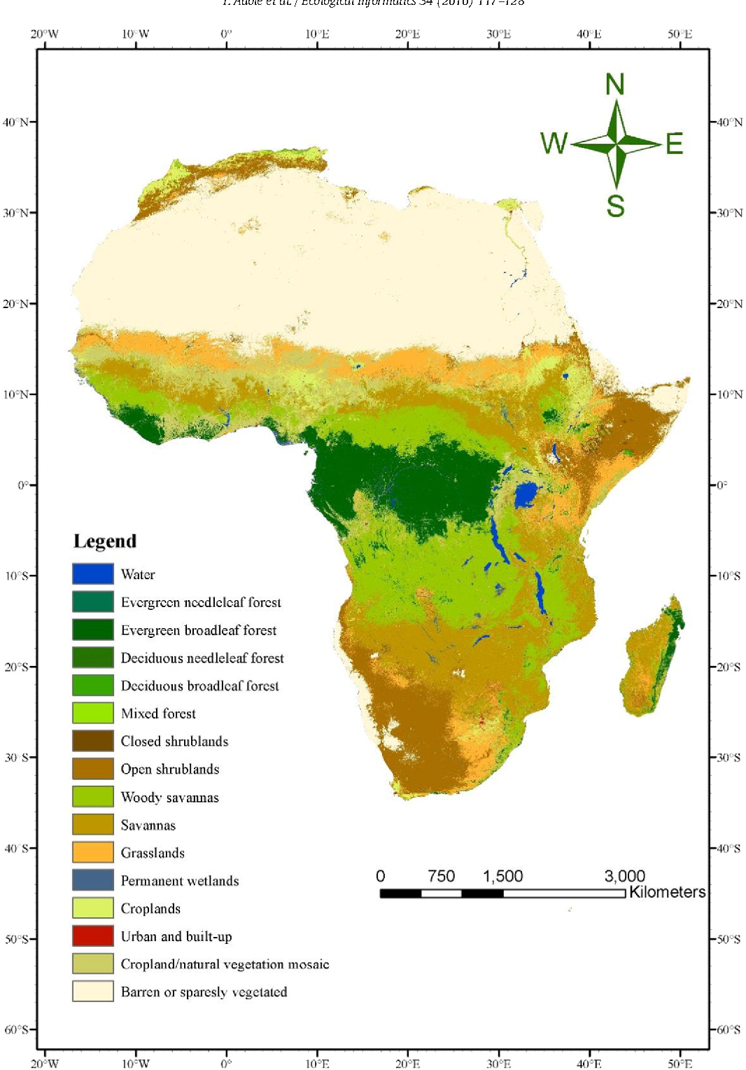 Map Of Africa Vegetation.Figure 1 From A Systematic Review Of Vegetation Phenology In Africa