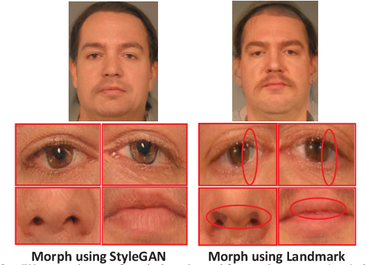 Figure 2 for Can GAN Generated Morphs Threaten Face Recognition Systems Equally as Landmark Based Morphs? -- Vulnerability and Detection
