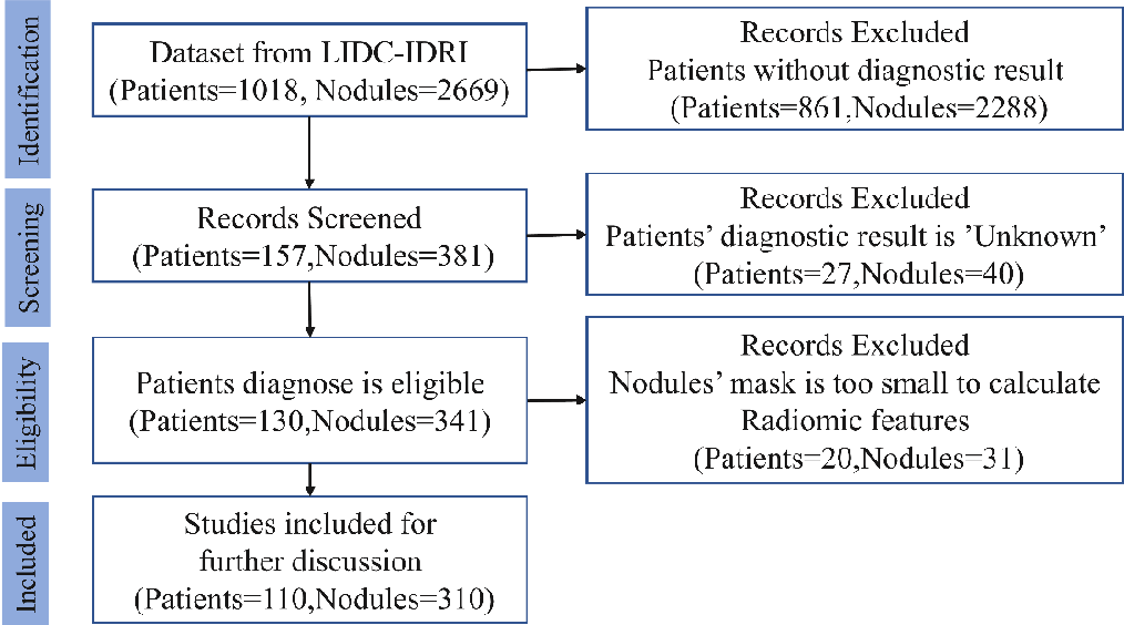 Figure 1 for Lung Cancer Diagnosis Using Deep Attention Based on Multiple Instance Learning and Radiomics