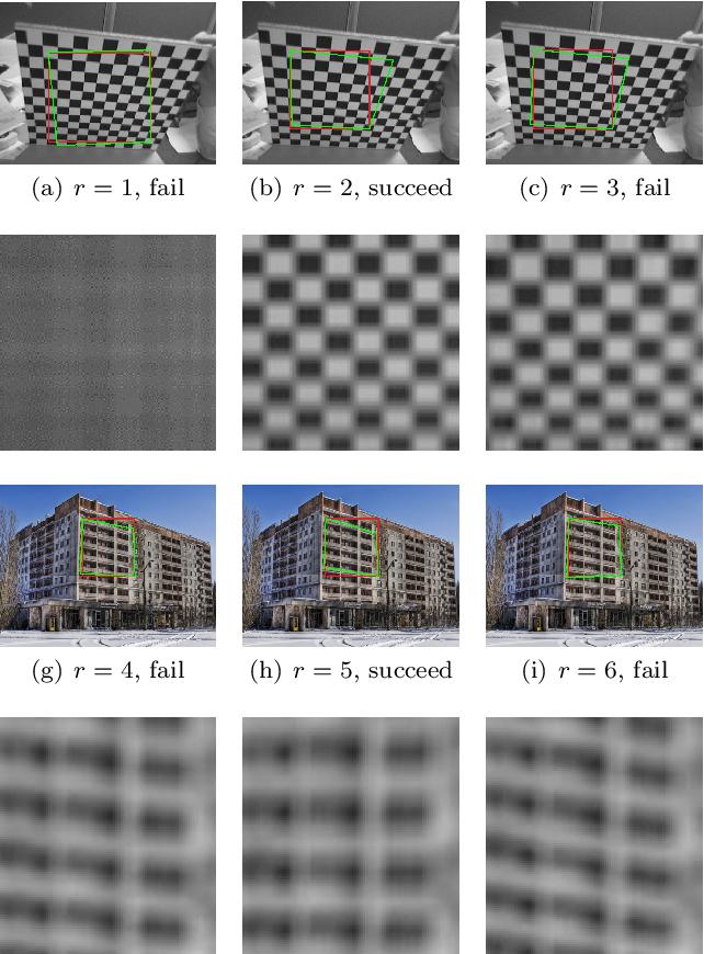 Figure 3 for TILT: Transform Invariant Low-rank Textures