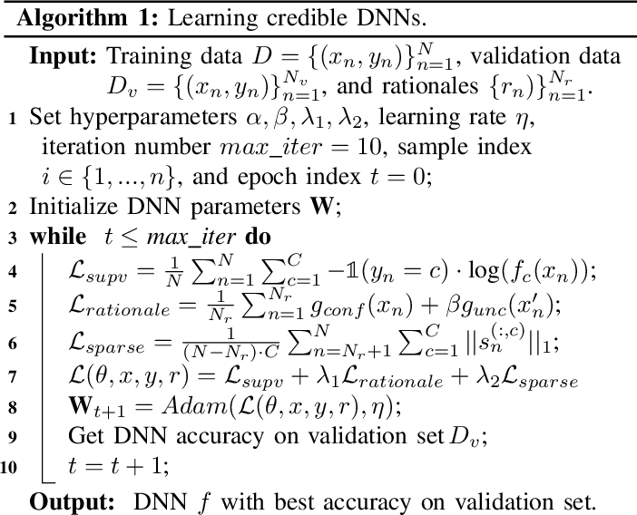 Figure 2 for Learning Credible Deep Neural Networks with Rationale Regularization