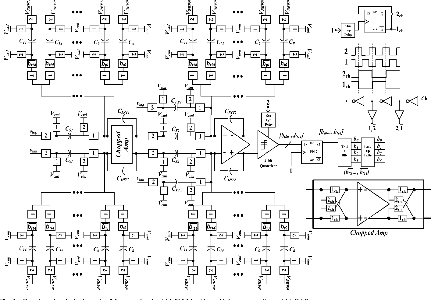 Complete electrical schematic of the second-order 4-bit s