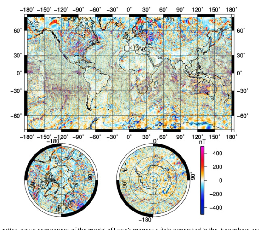 Magnetic Anomaly Map Of The World.Table 1 From Building The Second Version Of The World Digital
