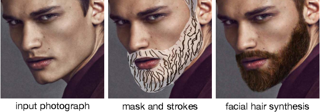 Figure 1 for Intuitive, Interactive Beard and Hair Synthesis with Generative Models