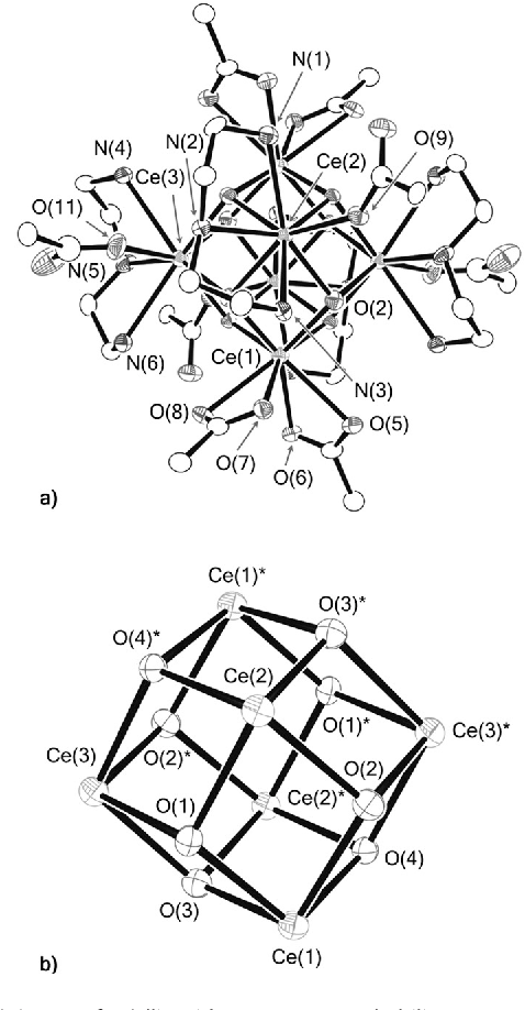 figure 2 from cerium iv hexanuclear clusters from cerium iii EA-6B Prowler figure 2 a ortep of 1 ellipsoids set at 30 probability