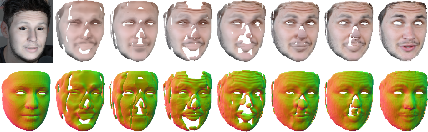 Figure 3 for SIDER: Single-Image Neural Optimization for Facial Geometric Detail Recovery