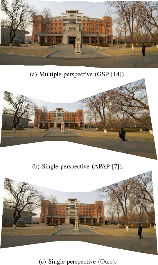 Figure 1 for Single-Perspective Warps in Natural Image Stitching