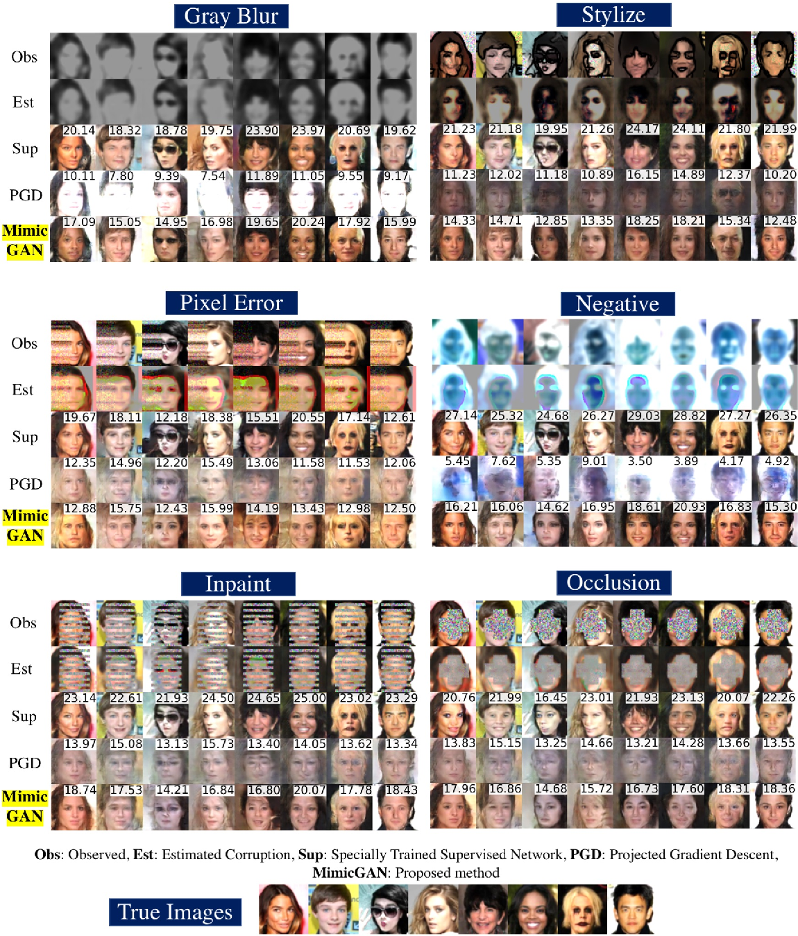 Figure 3 for MimicGAN: Corruption-Mimicking for Blind Image Recovery & Adversarial Defense