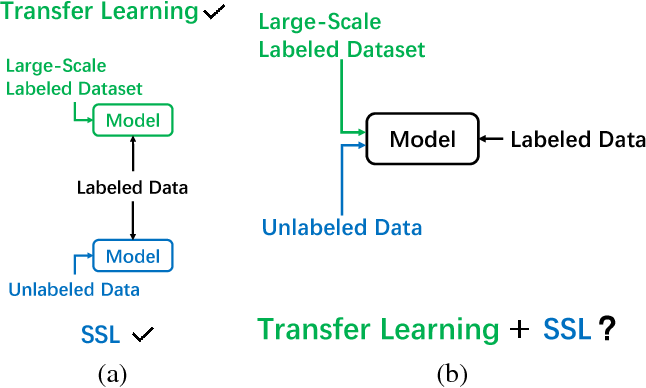 Figure 1 for When Semi-Supervised Learning Meets Transfer Learning: Training Strategies, Models and Datasets