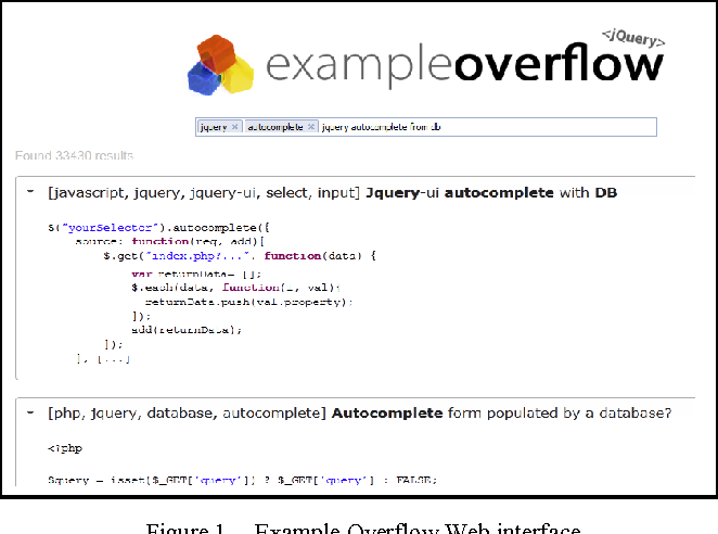 Figure 1. Example Overflow Web interface.