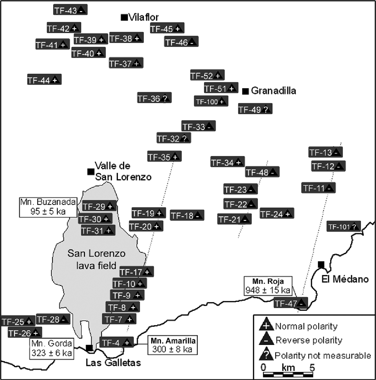 Figure 2 from Volcanic evolution of Southern Tenerife