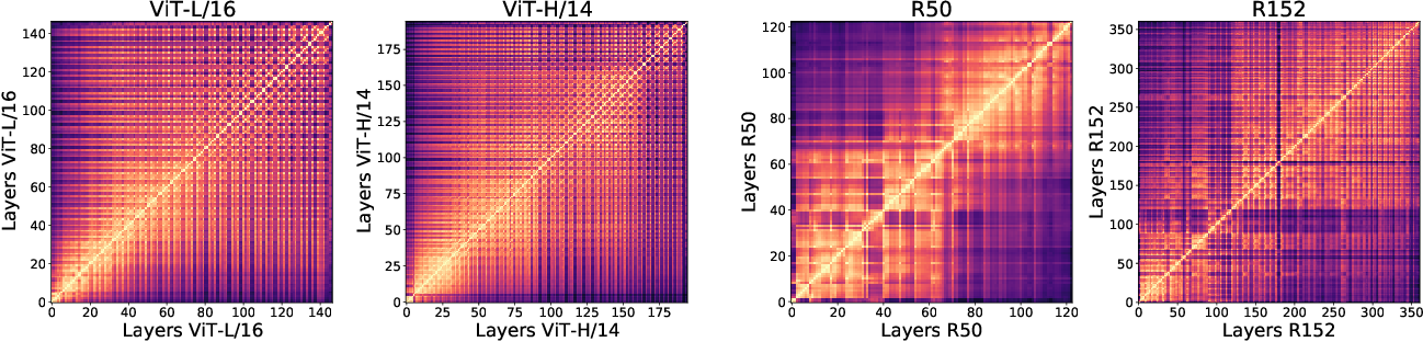 Figure 1 for Do Vision Transformers See Like Convolutional Neural Networks?