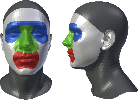 Figure 4 for 3D Face Reconstruction with Region Based Best Fit Blending Using Mobile Phone for Virtual Reality Based Social Media