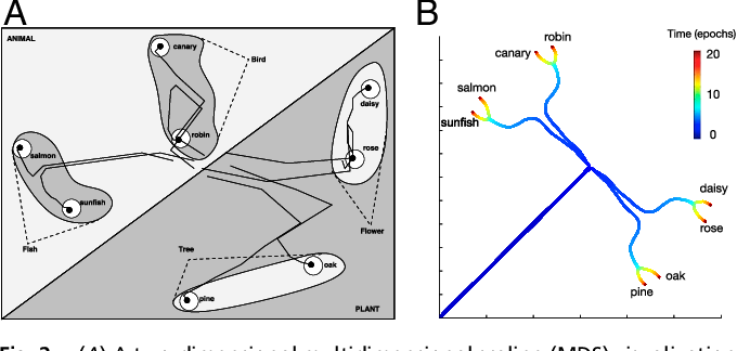 Figure 2 for A mathematical theory of semantic development in deep neural networks
