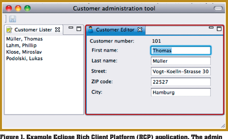 Composing Systems with Eclipse Rich Client Platform Plug-Ins