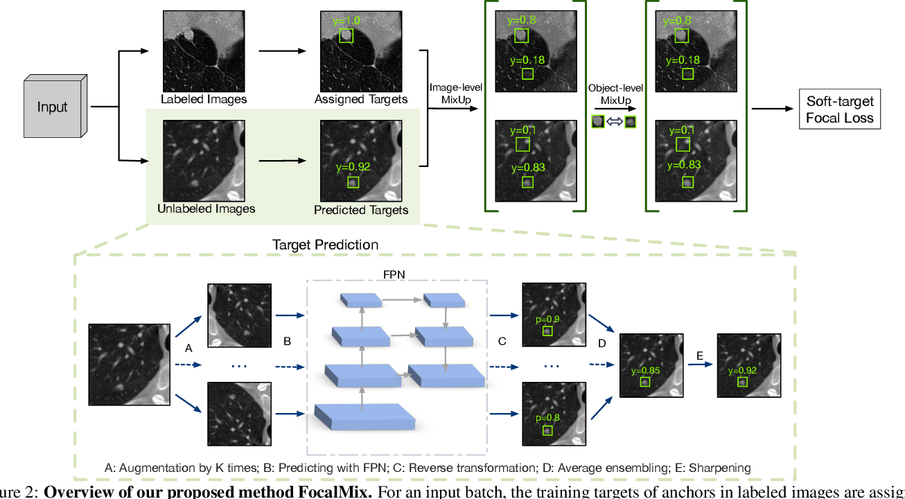 Figure 3 for FocalMix: Semi-Supervised Learning for 3D Medical Image Detection
