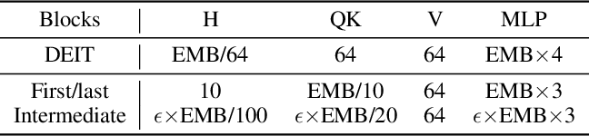Figure 4 for NViT: Vision Transformer Compression and Parameter Redistribution