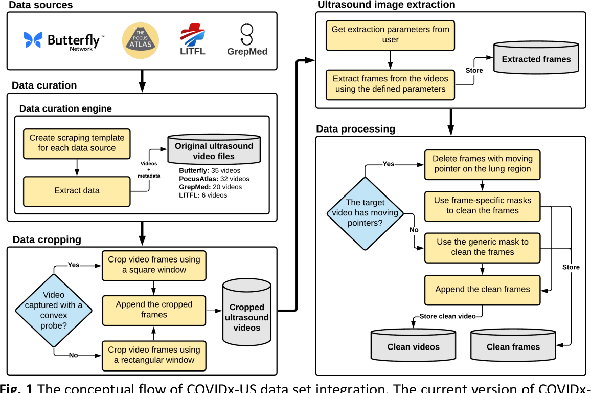 Figure 1 for COVIDx-US -- An open-access benchmark dataset of ultrasound imaging data for AI-driven COVID-19 analytics