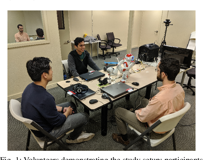 Figure 1 for Can I Trust You? A User Study of Robot Mediation of a Support Group