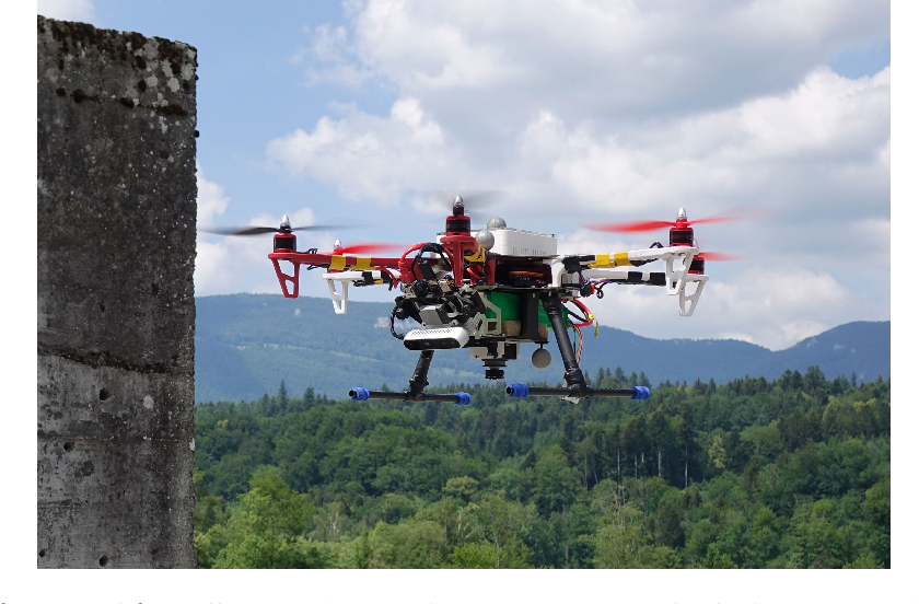 Figure 1 for A Complete System for Vision-Based Micro-Aerial Vehicle Mapping, Planning, and Flight in Cluttered Environments