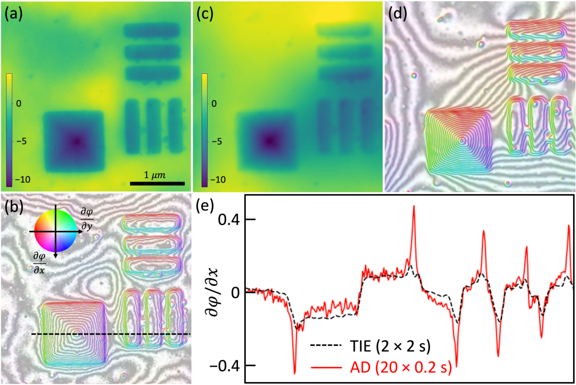 Figure 4 for High resolution functional imaging through Lorentz transmission electron microscopy and differentiable programming