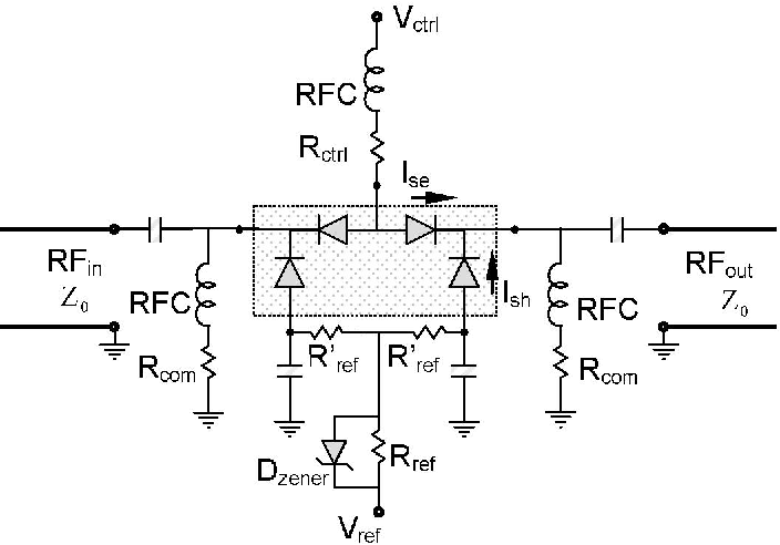 the proposed bias circuit for the k-type pin diode-
