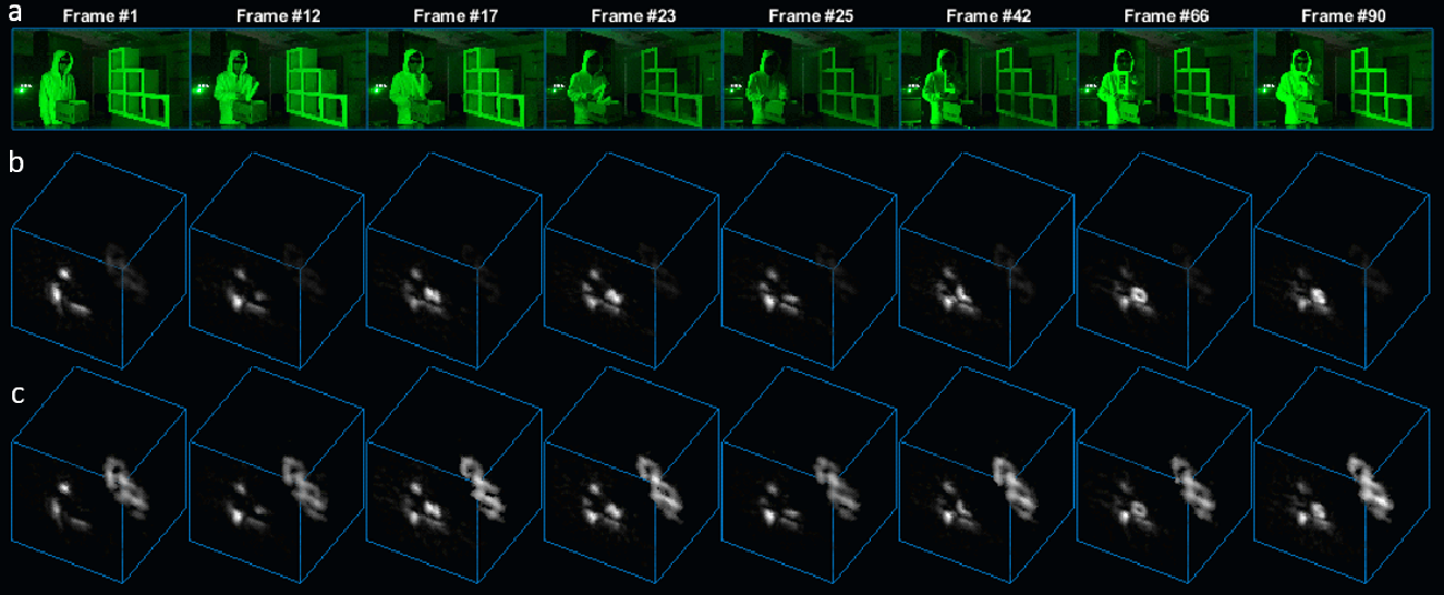 Figure 4 for Real-time Non-line-of-Sight imaging of dynamic scenes