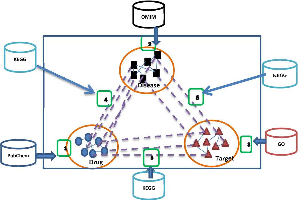 Figure 1 for Heter-LP: A heterogeneous label propagation algorithm and its application in drug repositioning
