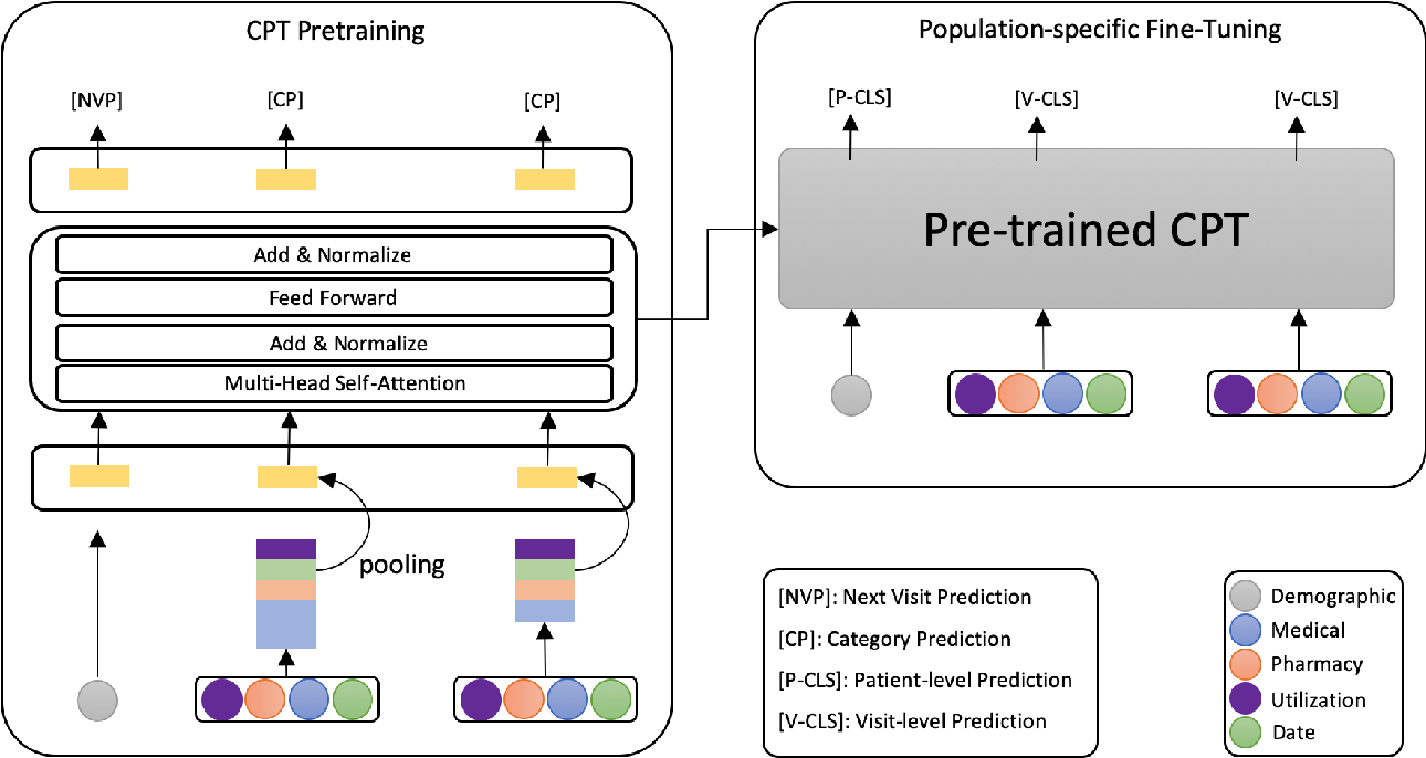 Figure 3 for Pre-training transformer-based framework on large-scale pediatric claims data for downstream population-specific tasks