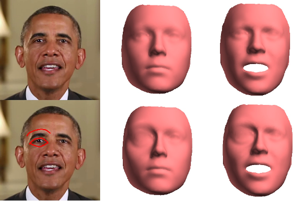 Figure 4 for Sketch-Based Face Editing in Videos Using Identity Deformation Transfer