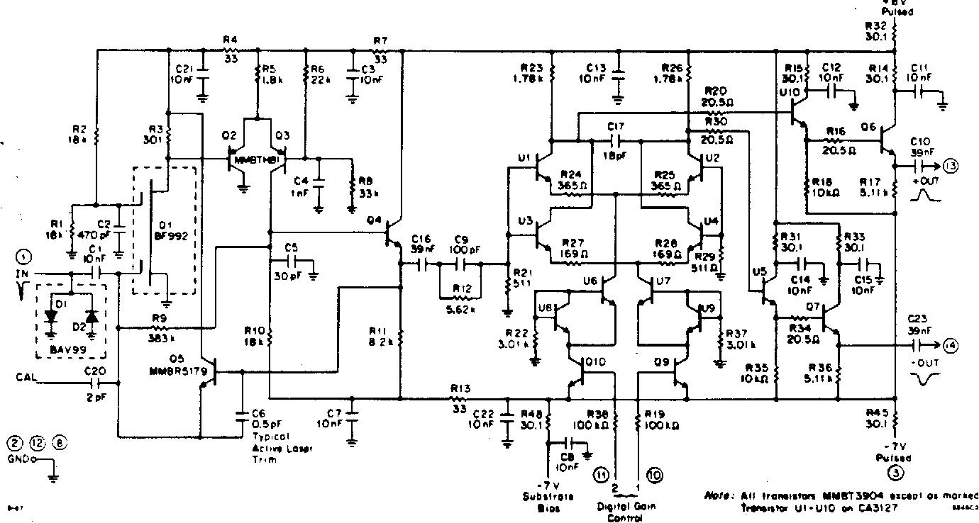 Figure 1 From Development Of A Low Noise Preamplifier For The Pre Amplifier Circuit Schematic Diagram Mosfet